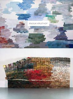 Gorgeous installation of books by conceptual artist Anouk Kruithof