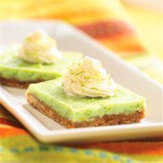 Almond Key Lime Bars