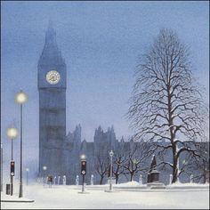 Wintery Big Ben - London, England.