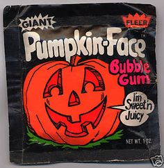 Halloween Addict: Retro Candy Memoir: Fleer Giant Pumpkin-Face Bubble Gum