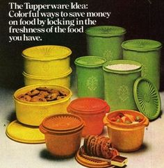 Anybody else remember going to Tupperware parties? My mom still has her set of green vintage Tupperware, which I covet. Vintage Tupperware, Tupperware Canisters, Pyrex, My Childhood Memories, Great Memories, School Memories, Family Memories, Nostalgia, Money Saving Meals