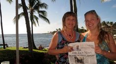 Now Being Read in Kauai!  Candyce O'Donnell and daughter Tiffany enjoy warm weather on the south shore of Kauai and remember to bring their copy of The Taos News to show to others.