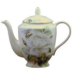 """Iceberg"" Fine Bone China Tea  Pot"