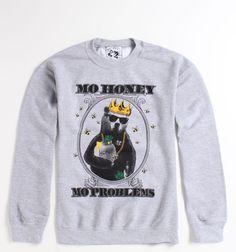 Riot Society Mo Money Crew Fleece