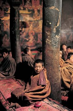 Novice Monch in Tibet - Steve Mc Curry Fotography