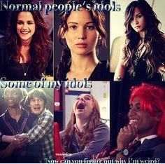 Well JL is my idol too but yeah House Of Anubis, My Idol, Hunger Games, Yup, Jade, Weird, Fandoms, Disney, Quotes