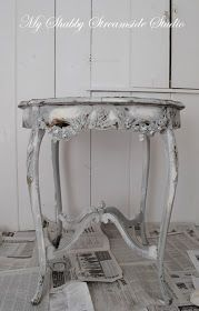 My Shabby Streamside Studio: Shabby Chic Refinishing Using Annie Sloan Paint: Color Change When You Want To Keep The Chippy Finish