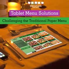 Restaurants Gets Smarter with Tablet Menu Solutions! Know more here: www.imenucards.com  #imenu #tabletmenu #restaurants #sellmore