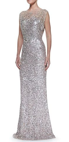 Jenny Packham beaded and sequined gown