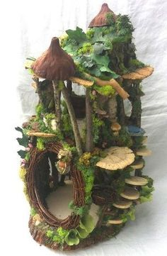 Fairy House, handmade by Forest Whimsy. Come by Artistic Portland to get one and… - Gardening And Patio