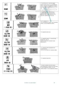 Gallery.ru / Фото #2 - Условные обозначения к японским узорам спицами - GalaSk