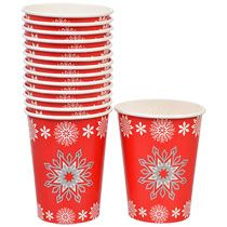 Bulk Christmas House Snowflakes Party Cups, 9-oz., 14-ct. Packs at DollarTree.com
