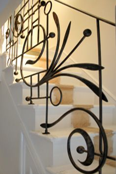 contemporary wrought iron balustrade