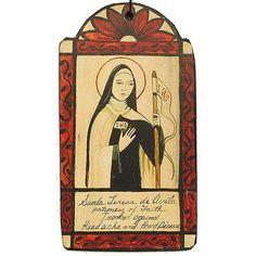 Teresa de Avila Invoked against headaches and heart disease Catholic Saints, Patron Saints, Gods Plan, God Jesus, Sacred Heart, Heavenly Father, Names Of Jesus, American Art, Gods Love
