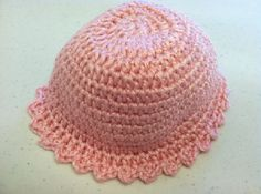 Pink Newborn Baby Beanie Hat with Free Shipping #HAF #HAFshop #handmade $7.50