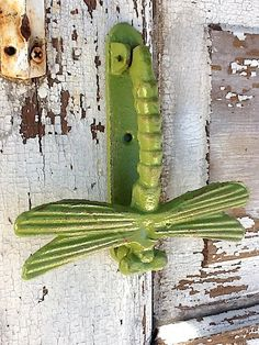 Dragonfly Door Knocker Distressed And Rustic By CamillaCotton, $18.00