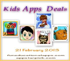 Top 5 apps for kids free or price drop for Feb 21 -a cool app to learn about the body parts; a cute game to use logic and reasoning skills; a math game apps to introduce the concept of fraction and division to your kid; and a top storybook app! ... and our latest Top Pick - Puppet Workshop by Jump App is on sale at 0.99US$!!!