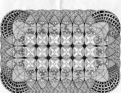 Graph paper tangling, doodling
