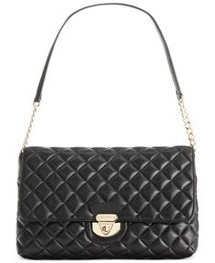 fe4146c59e1f Calvin Klein Quilted Lamb Shoulder Bag & Reviews - Handbags & Accessories -  Macy's
