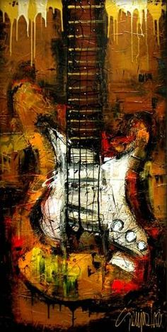 Music Artwork Paintings Canvases Knives Ideas For 2019 Music Painting, Guitar Painting, Music Artwork, Artwork Paintings, Pop Art, Rock Poster, Guitar Wall Art, Jazz Art, Abstract Art