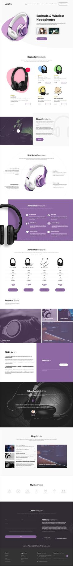 LandGo is clean and modern design responsive multipurpose HTML5 #template for single #product #eCommerce landing page website with 12 niche homepage layouts to download & live preview click on image or Visit #webmaster