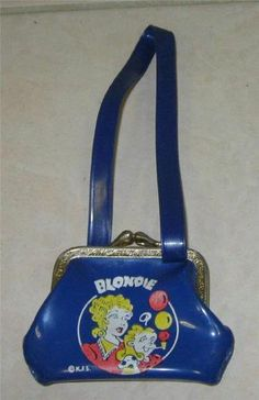 50s King Features Syndicate Blondie Her Child Vinyl Mini Change Purse w Strap | eBay