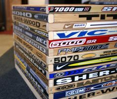Hockey stick toy box - God knows it's not the materials that we're missing...