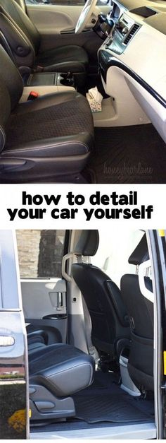 how to detail your car yourself - perfect for spring cleaning