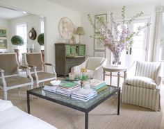 Cottage Style Homes, Small Buildings, French Chic, Living Room Inspiration, Topiary, Green And Grey, Gray, Interior And Exterior, Painted Furniture