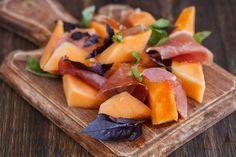 Meloen met ham stock