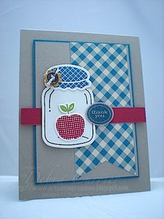 """Canned Apple by pdncurrier - Cards and Paper Crafts at Splitcoaststampers **** SU """"Perfectly Preserved"""" images & """"Cannery Set"""" Framelits Die, 2012 Holiday Mini."""