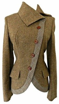 Textured wool riding jacket.  Love how it is asymmetrical.