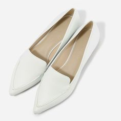 Pointed Loafers - White - Flats - Shoes | CHARLES & KEITH