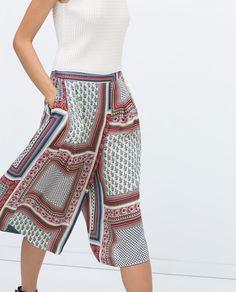 Do you like this high waist palazzo pants? Fashion Multicolor Geometric Pattern