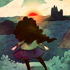"""Woot! I got an extremely rare print, """"New Horizons"""", by @Cleonique on @NeonMob - Check it out!"""