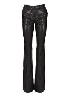 Rachel Zoe Pants :: Rachel Zoe black flared leather pants | Montaigne Market