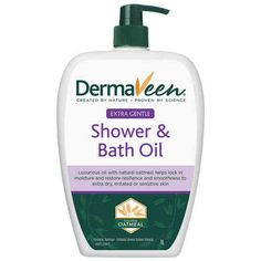 DermaVeen Extra Gentle Shower and Bath Oil by. *** Check out the image by visiting the link. (This is an affiliate link) Natural Oils, Dry Skin, Sensitive Skin, Cleaning Supplies, Moisturizer, Bath, Shower, Oatmeal