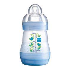 Mamadeira First Bottle Boys Azul 160ml Anti-cólica Mam (0M+) - Turma da Cegonha
