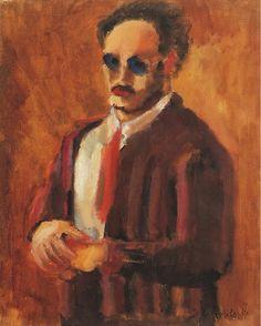 Mark Rothko, Self-Portrait-1936. on ArtStack #mark-rothko #art