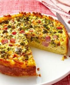 Broccoli, Ham & Cheese Quiche!! Make your family's morning with this recipe!! Repin!!!! |eatingwell.com