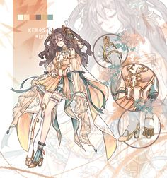 All by Rurucha on DeviantArt Female Character Design, Character Design Inspiration, Character Concept, Character Art, 1 Gif, Art Costume, Anime Outfits, Anime Art Girl, Anime Style