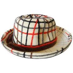 7f957172429 Yves Saint Laurent Wool Plaid Chapeau Wool