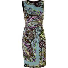 ETRO Azure Draped Dress ($1,010) ❤ liked on Polyvore