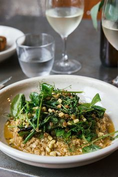 At Folonomo nothing impresses as much as the sunflower seed risotto. Surry Hills, Best Dishes, Sunflower Seeds, Seaweed Salad, Risotto, Vegetarian, Restaurant, Dinner, Ethnic Recipes