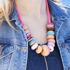Make Yourself An Easy To Make DIY Donut Bead Necklace Just In Time For National Donut Day!