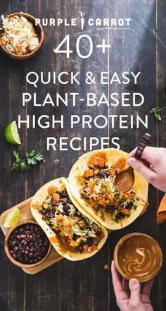 All of our favorite healthy, quick, and easy high protein vegan dinners, lunches, and snacks in one place.