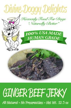Divine Doggy Delights Home Made Ginger Beef Jerky