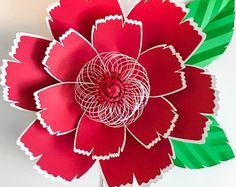 PDF Paper Flower template, Digital Version, Original Design by Annie Rose #131