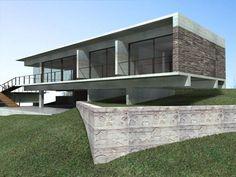Ricardo Sargiotti con x-arquitectos anteproyecto casa CD / 2006 vista desde calle