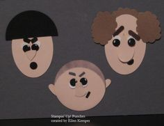 Three Stooges from punches by stampinmutt - Cards and Paper Crafts at Splitcoaststampers